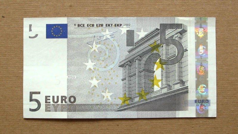 какие купюры Евро бывают
