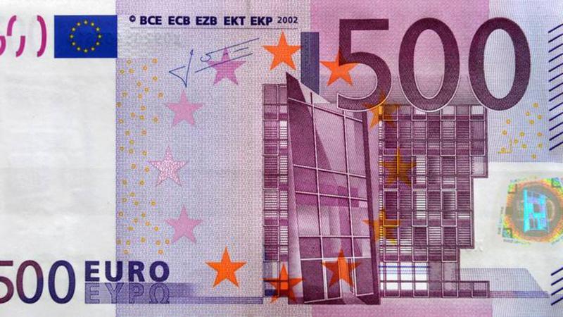 размер купюры 500 Евро
